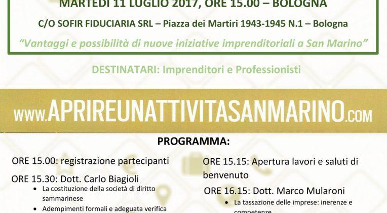 Convegno Gratuito – Fare Impresa a San Marino