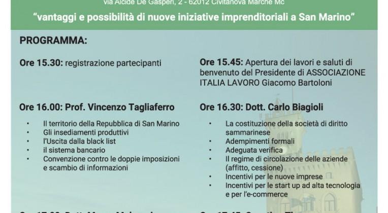 29/10/2015 – Convegno Aprire un'attività a San Marino – Civitanova Marche